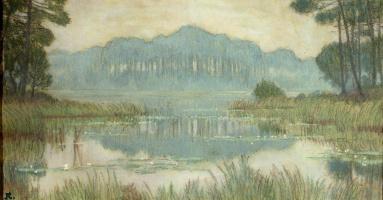 Жан-Франсис Обюртен. Пейзаж с заросшим прудом