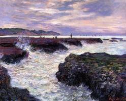 Rocks at low tide, Pourville