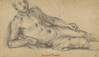 Якопо Понтормо. Лежащий мужчина