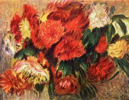 Pierre Auguste Renoir. Still life with chrysanthemums