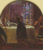 Артур Хьюз. Триптих: Канун дня Святой Агнессы. Центральная панель