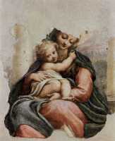 Антонио Корреджо. Мадонна делла Скала, фрагмент