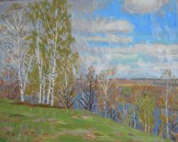 Евгений Александрович Казанцев. Холодная весна на Мстерке.