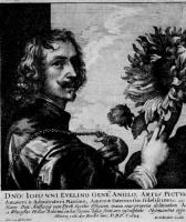 Венцель Холлар. Портрет Антониса ван Дейка с подсолнухом