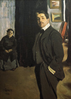 Lev Samoilovich Bakst (Leon Bakst). Portrait of Sergei Pavlovich Diaghilev with his nanny