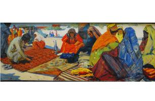 Aman Amangeldyev. The old Bazaar