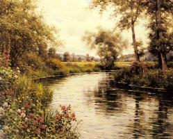 Луи Астон Найт. Цветы в цвету над рекой