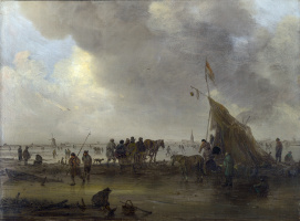 Jan van Goyen. Scene on the ice