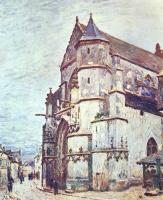 Альфред Сислей. Церковь в Морэ после дождя