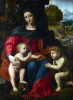 Бернардино Луини. Лева с младенцем и Святой Иоанн