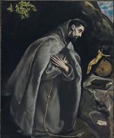 Эль Греко (Доменико Теотокопули). Святой Франциск в молитве перед распятием