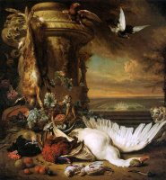 Ян Баптист Веникс. Натюрморт с мертвыми птицами