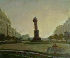Георгий Григорьевич Нисский. Городской пейзаж. Вечер