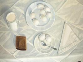 Leonid Terentyevich Chupyatov. White still life