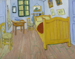 Vincent van Gogh. Bedroom in Arles (first version)