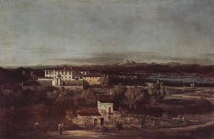 Джованни Антонио Каналь (Каналетто). Деревня Гаццада, вид на виллу Мелци д`Эрил с юго-востока