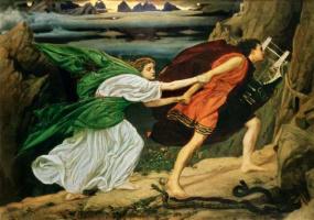 Edward John Poynter. Orpheus and Eurydice