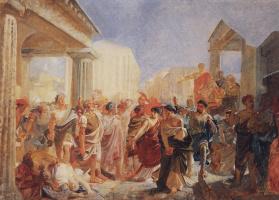 Nikolai Nikolaevich Ge. The Death Of Virginia. Sketch