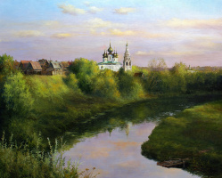 Сергей Владимирович Дорофеев. Вечер над Суздалем. Август