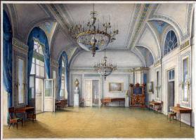 Никанор Григорьевич Чернецов. Виды залов Зимнего дворца. Приемная Александра II