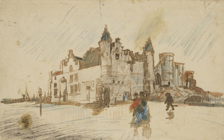 Vincent van Gogh. View of the castle Walls