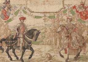 Бернард ван Орлей. Йохан IV из Нассау и его жена Мария ван Лун-Хайнсберг