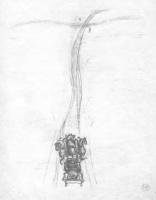 Наталья Сергеевна Гончарова. Дорога (эскиз иллюстрации к поэме М. Цветаевой «Молодец»)