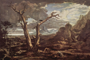 Washington Alston. Elijah in the desert