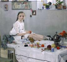 Николай Иванович Фешин. Портрет Вари Одоратской