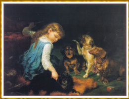 Лилли Мартин Спенсер. Дрессировка собак