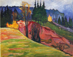 Edward Munch. The Thuringian Forest