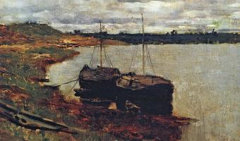 Barges. Volga