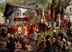 The feast of corpus Christi in Hofgastein