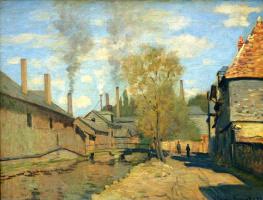 Claude Monet. Stream Robek in Rouen