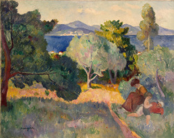 Henri Manguin. Path in Saint-Tropez