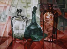 Vasily Vyacheslavovich Krotkov. The old bottle. Kubofuturizm