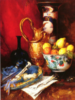 Антуан Воллон. Натюрморт с вазой фруктов