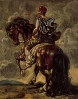 Giorgio de Chirico. On horseback