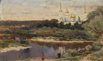 Михаил Андреевич Беркос. Вид на Ново-Иерусалимский монастырь