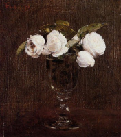 Henri Fantin-Latour. Vase with roses