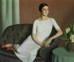 Фредерик Гоуленд Хопкинс. Девушка в белом платье