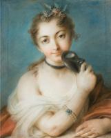 Розальба Каррьера (Каррера). Женский портрет с маской