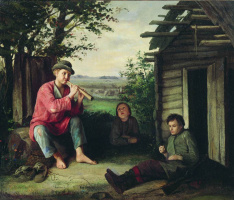 Василий Максимович Максимов. Заслушались. 1864