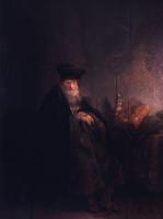 Рембрандт Харменс ван Рейн. Учёный у стола с книгами и подсвечником (Старый раввин)