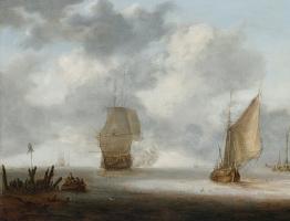 Ян Порселлис. Военные и рыболовные корабли