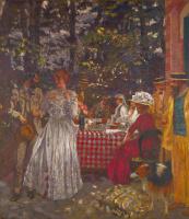 Jean Edouard Vuillard. Lunch on the garden terrace