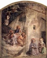 Фра Беато Анджелико. Цикл фресок доминиканского монастыря Сан Марко во Флоренции, сцена: Христос в Гефсиманском саду, молящаяся Мария