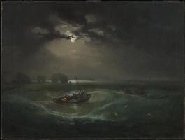 Joseph Mallord William Turner. Fishermen in the sea