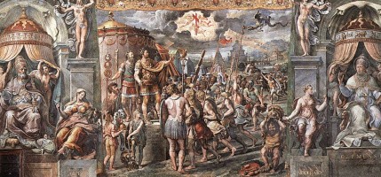 Рафаэль Санти. Станцы Ватикана. Зал Константина. Видение святого креста