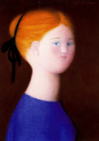 Антонио Буэно. Рыжеволосая девушка в синем